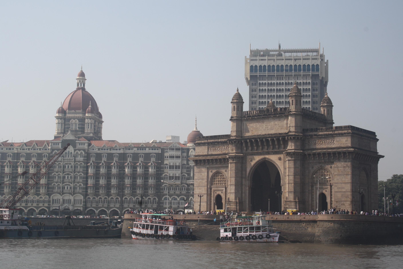 Große Gebäude in den Städten Indiens