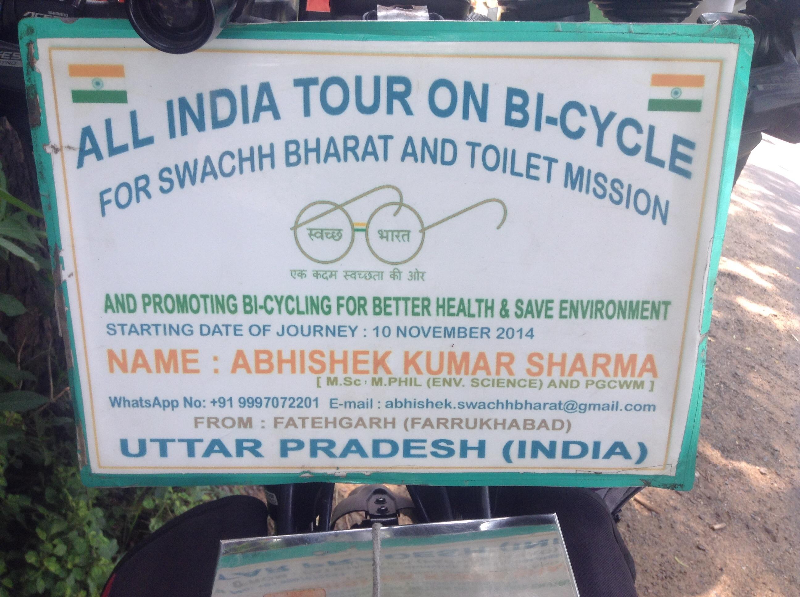 Abhishek Kumar Sharma - ein Mann mit einer Mission