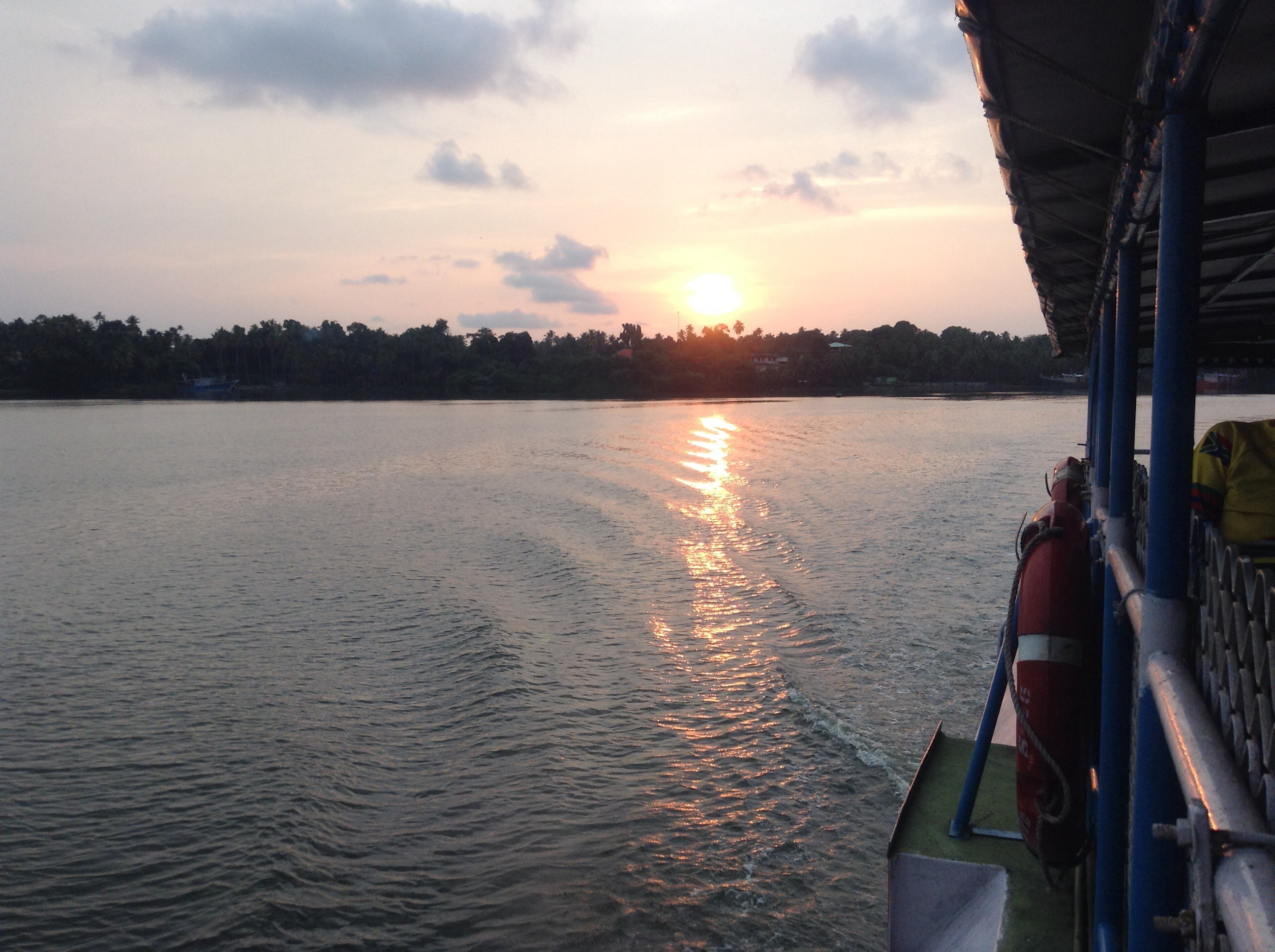 Eine Backwaters-Bootstour