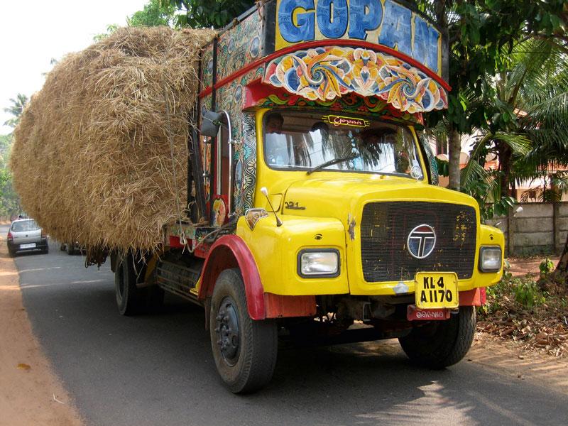 Truck mit Heu.