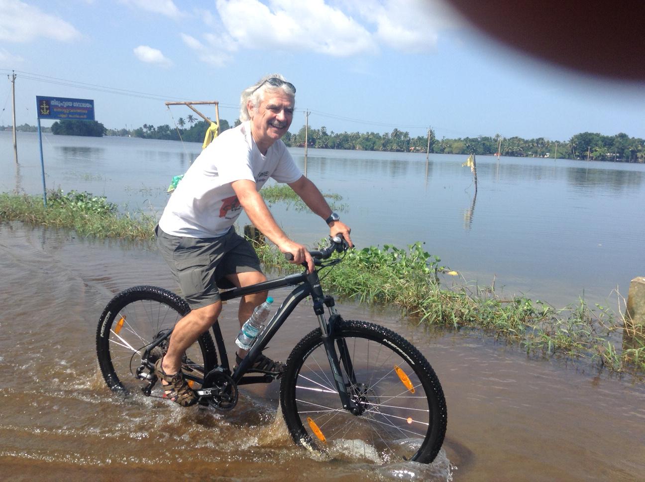Flut 2018 in den Kerala Backwaters