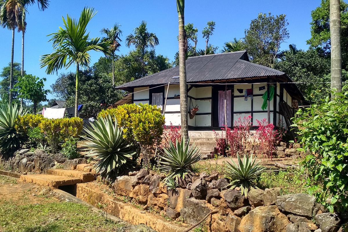 Megahalaya - Unterkunft im Bungalow